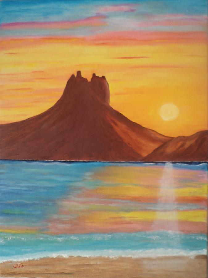 Seascape Painting - Tetakawi by Jorge Cristopulos