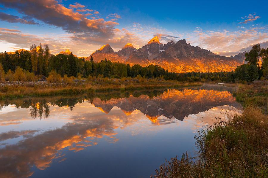 Grand Teton Photograph - Teton Morning Mirror by Joseph Rossbach