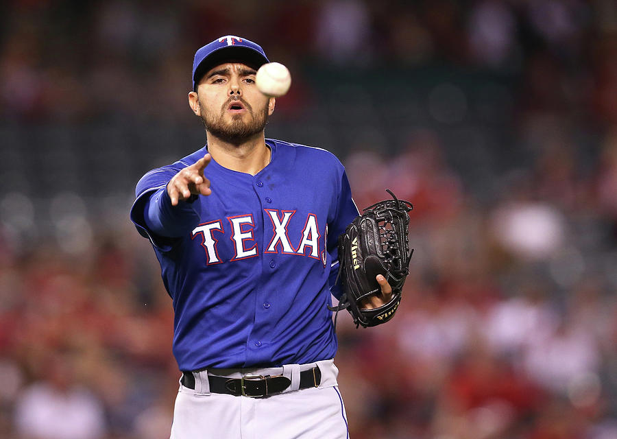 Texas Rangers V Los Angeles Angels Of Photograph by Stephen Dunn