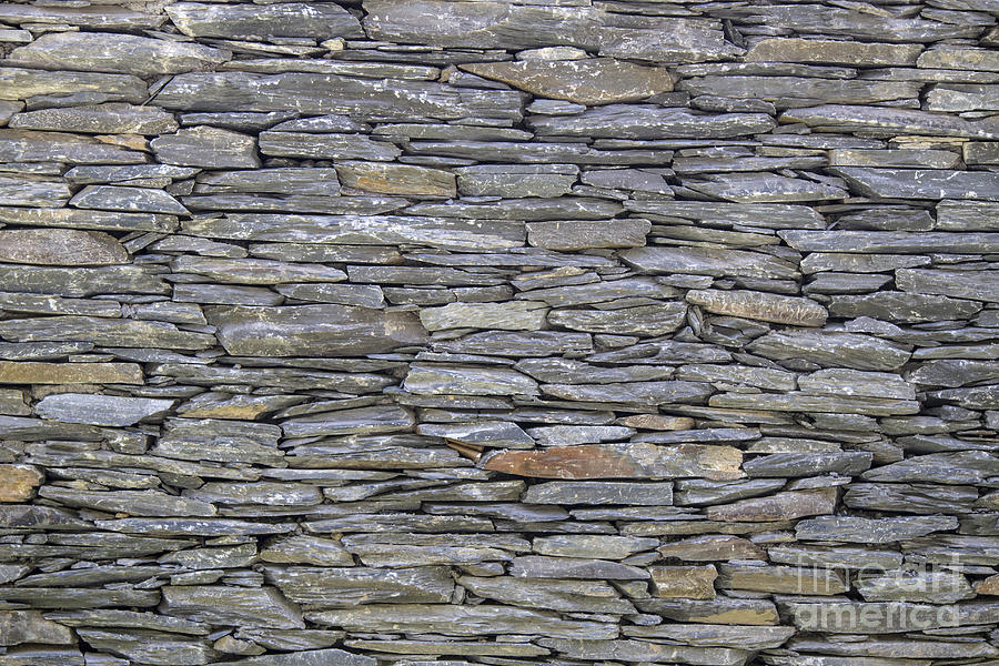 Texture Of Old Stones Wall Photograph