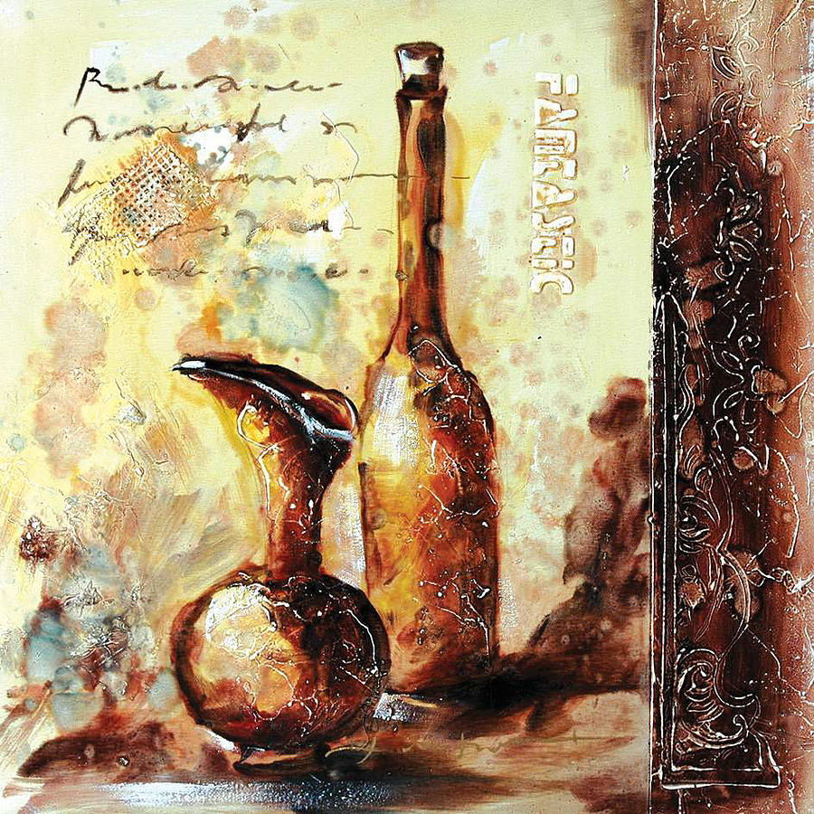 Textured Utensil Oil Painting Mixed Media by Youme Art