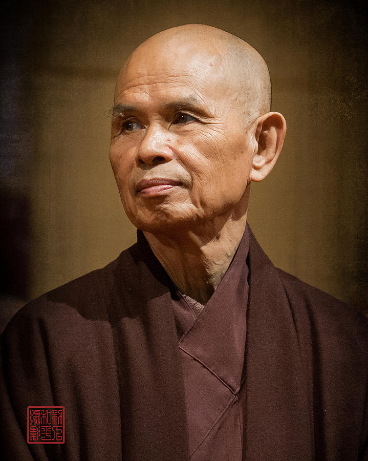 Thich Nhat Hanh Photograph - Thay In Thailand by Paul Davis