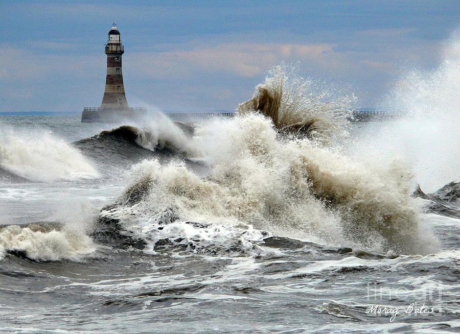 sunderland Greeting Cards Photograph - The Angry Sea by Morag Bates