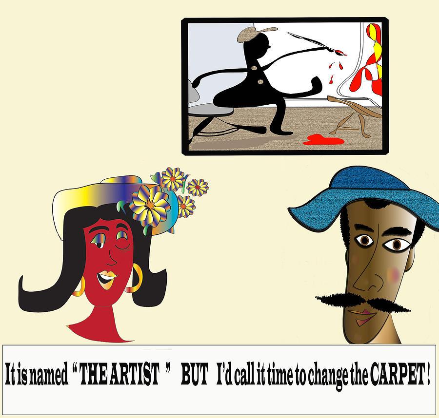 Comic Digital Art - The Artist by Iris Gelbart