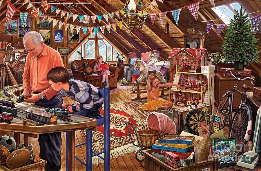 Adventure Digital Art - The Attic by Steve Crisp