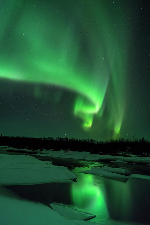 The Aurora Lights Up The Sky In Canada by John Hyde