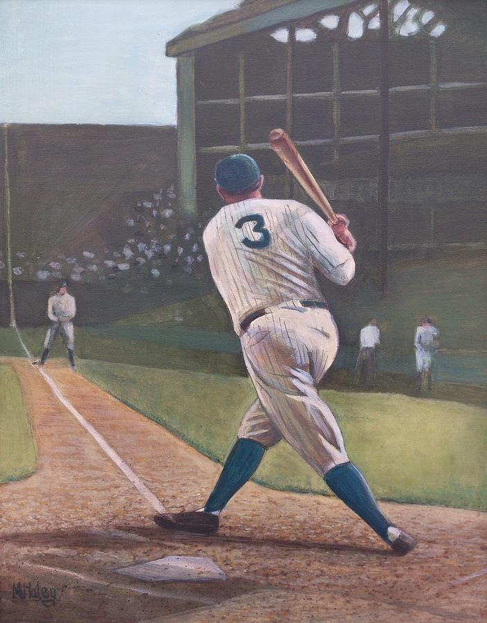 Bambino Painting - The Babe Sends One Out by Mark Haley