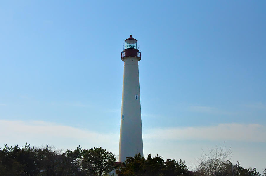 Beacon Photograph - The Beacon Of Cape May by Bill Cannon