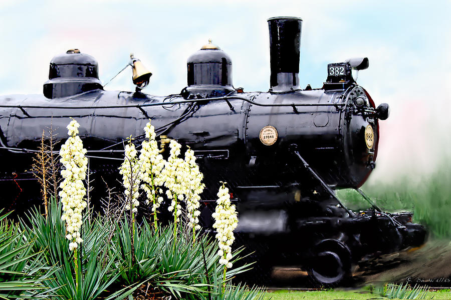 The Black Steam Engine Photograph by Bonnie Willis