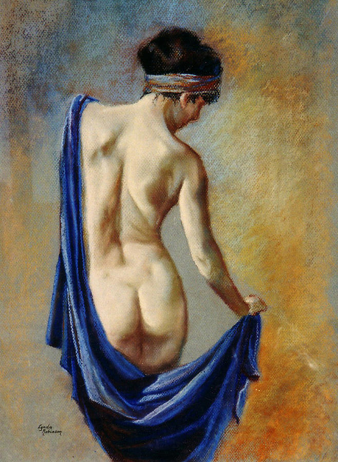Pastel Painting - The Blue Shawl by Lynda Robinson