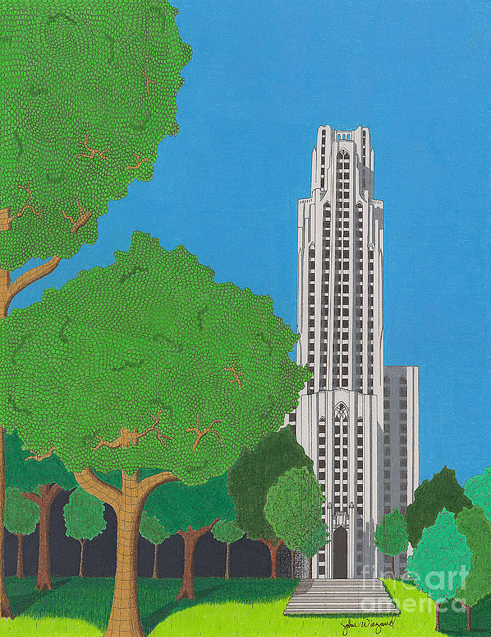 The Cathedral of Learning by John Wiegand