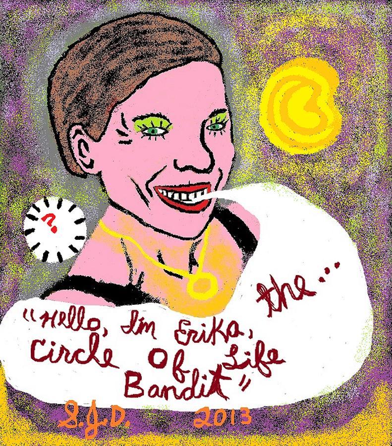 The Circle Of Life Bandit Digital Art by Joe Dillon