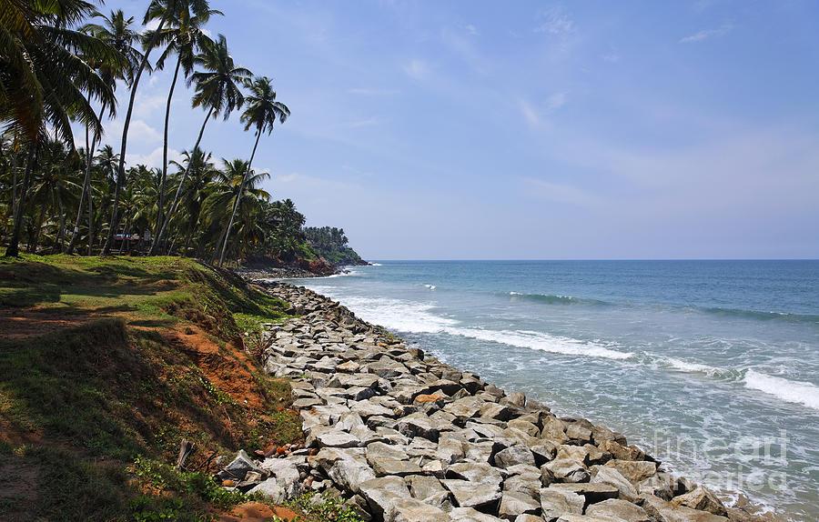Coast Photograph - The Coast At Varkala In Kerala India by Robert Preston