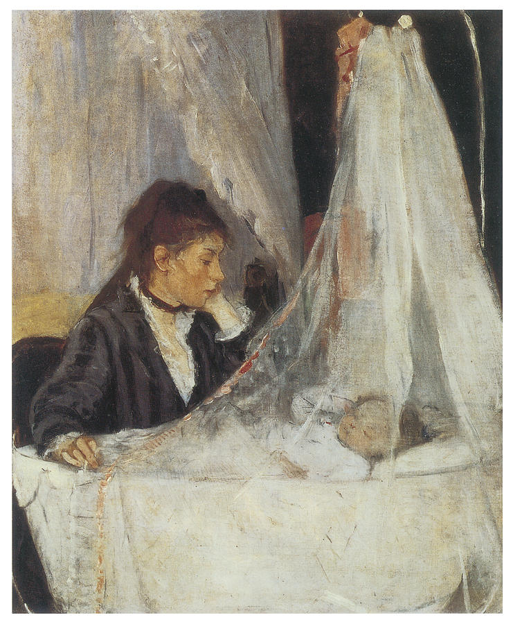 Berthe Morisot Painting - The Cradle by Berthe Morisot
