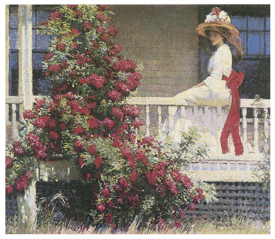 Philip Leslie Hale Painting - The Crimson Rambler by Philip Leslie Hale