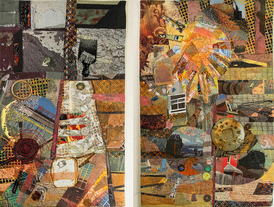 Art Quilt Tapestry - Textile - The Detritus Of Working Class Lives by Martha Ressler