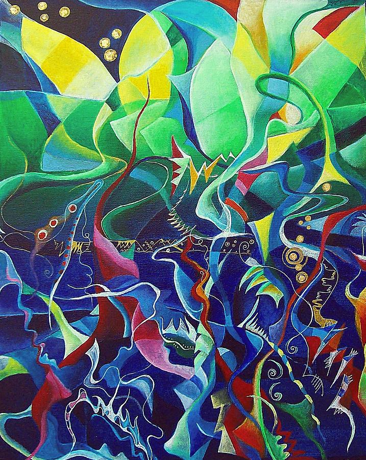 Darius Milhaud Painting - the dreams of Jacob by Wolfgang Schweizer