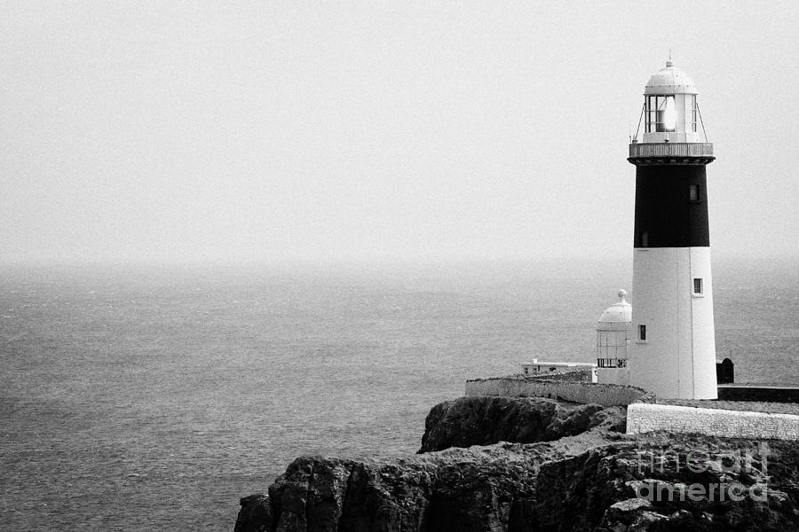 Ireland Photograph - The East Light Lighthouse Altacarry Altacorry Head Rathlin Island Ireland by Joe Fox