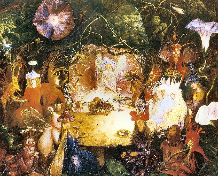 John Anster Fitzgerald Digital Art - The Fairies Banquet by John Anster Fitzgerald