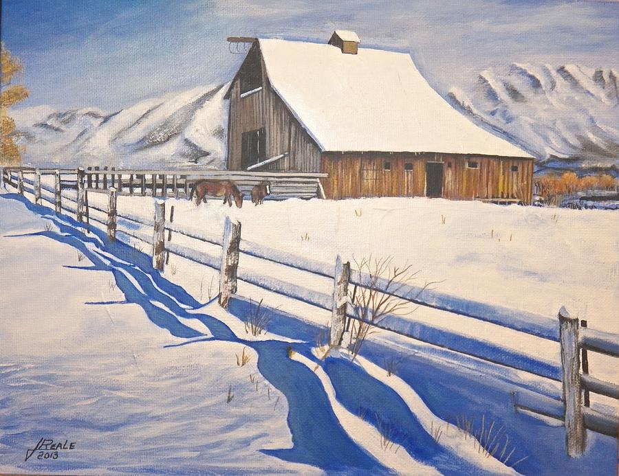 Snow Painting - The First Snow by Jim  Reale