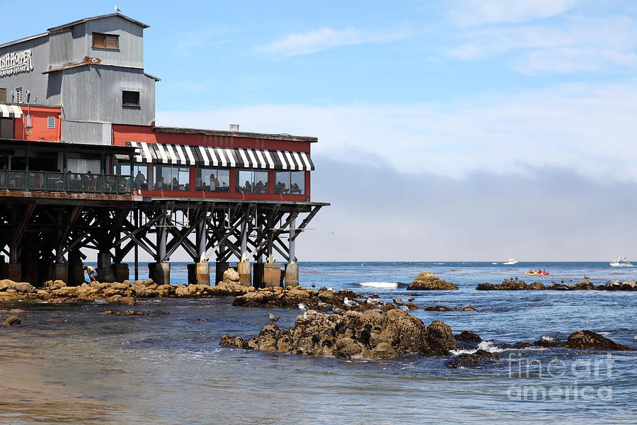 The Fish Hopper Restaurant And Monterey Bay On Monterey Cannery Row California 5d25047 By Wingsdomain Art And Photography