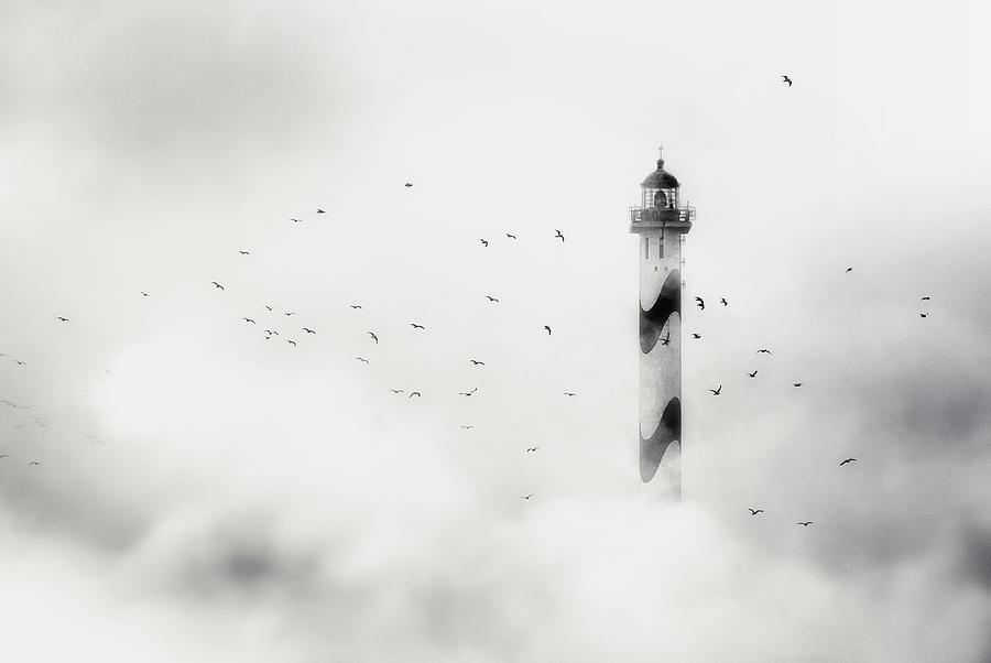 Ostend Photograph - The Fog by Piet Flour