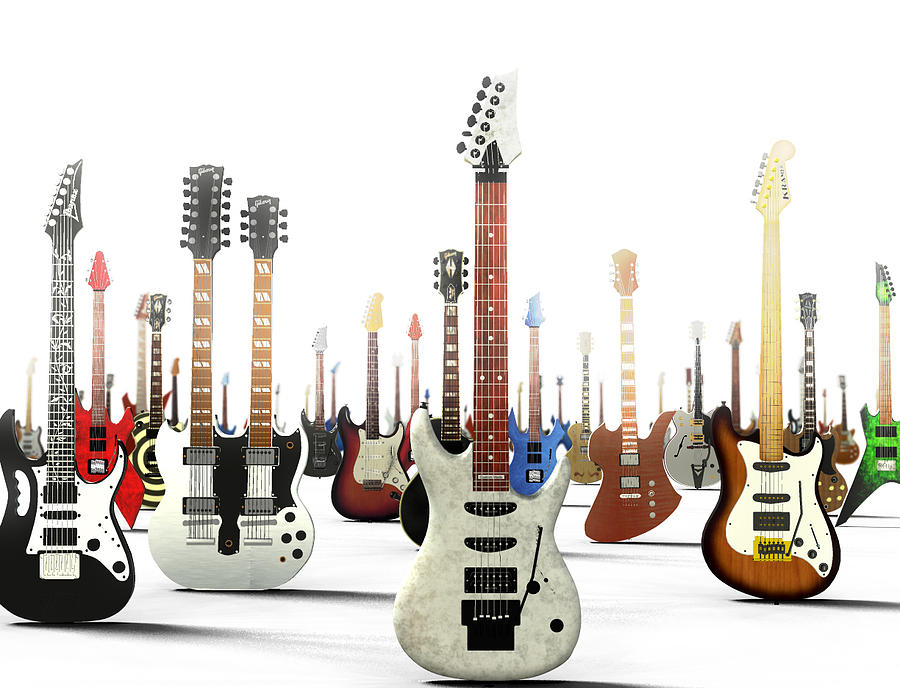 Guitar Digital Art - The G Gathering by Frederico Borges