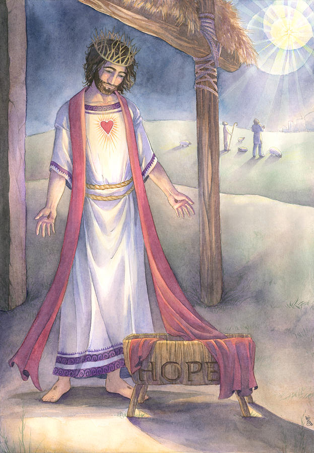 Jesus Christ Painting - The Gift Of Hope by Sara Burrier