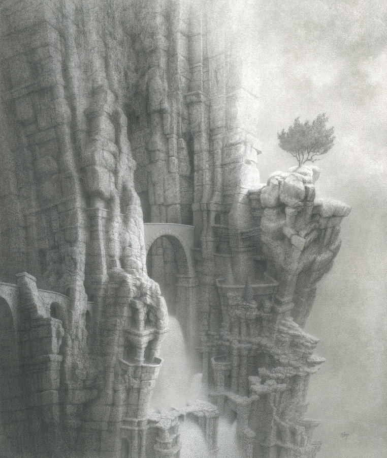 Mystical Places Drawing - The Gift Within by Mark  Reep