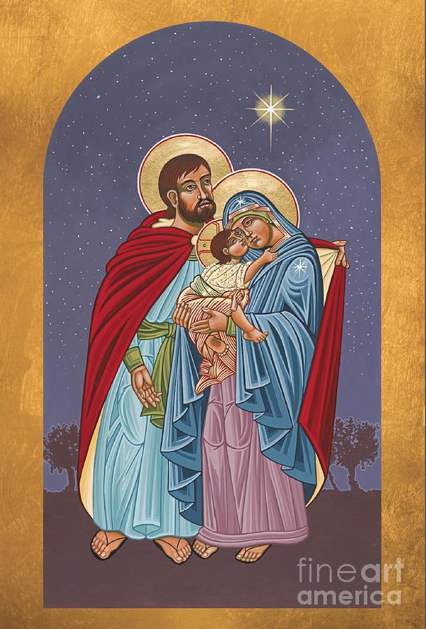 Bethlehem Painting - The Holy Family for the Holy Family Hospital of Bethlehem 272 by William Hart McNichols