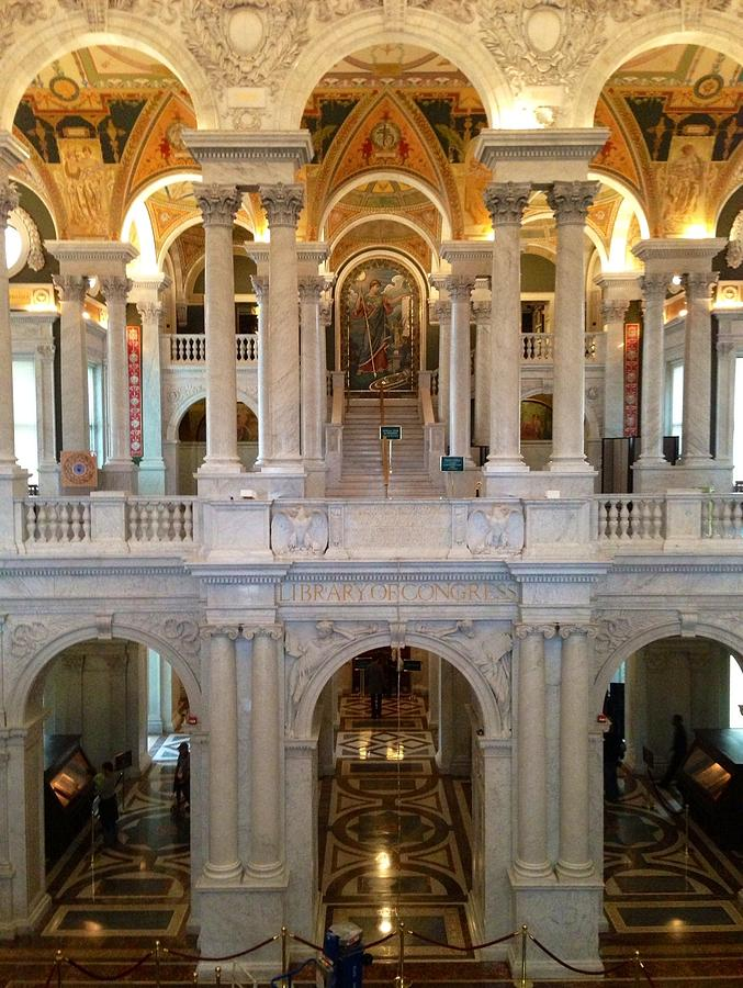 Library Of Congress Photograph - The Jefferson Building Library Of Congress by Lois  Ivancin Tavaf