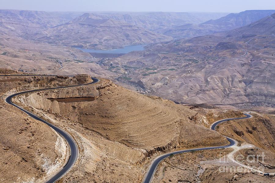 Wadi Mujib Photograph - The Kings Highway At Wadi Mujib Jordan by Robert Preston