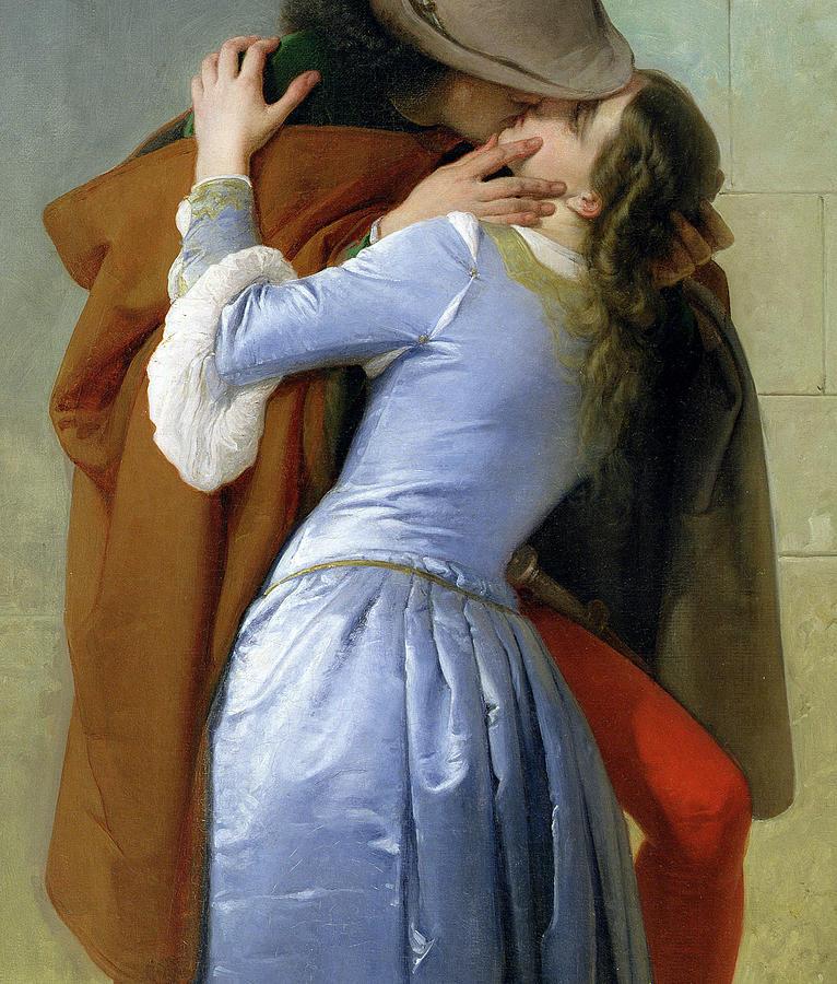 Francesco Hayez Painting - The Kiss by Francesco Hayez