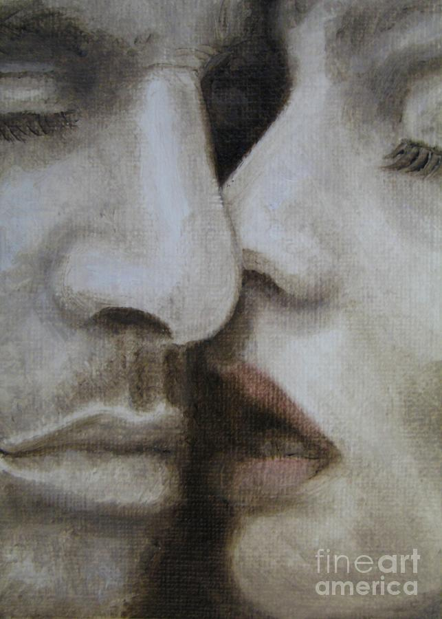 Love Painting - The Kiss by Jindra Noewi
