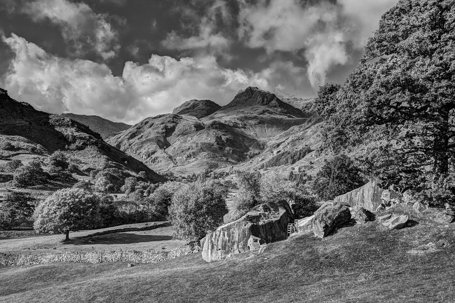 Mountains Photograph - The Langdale Pikes From Copt Howe by Graham Moore