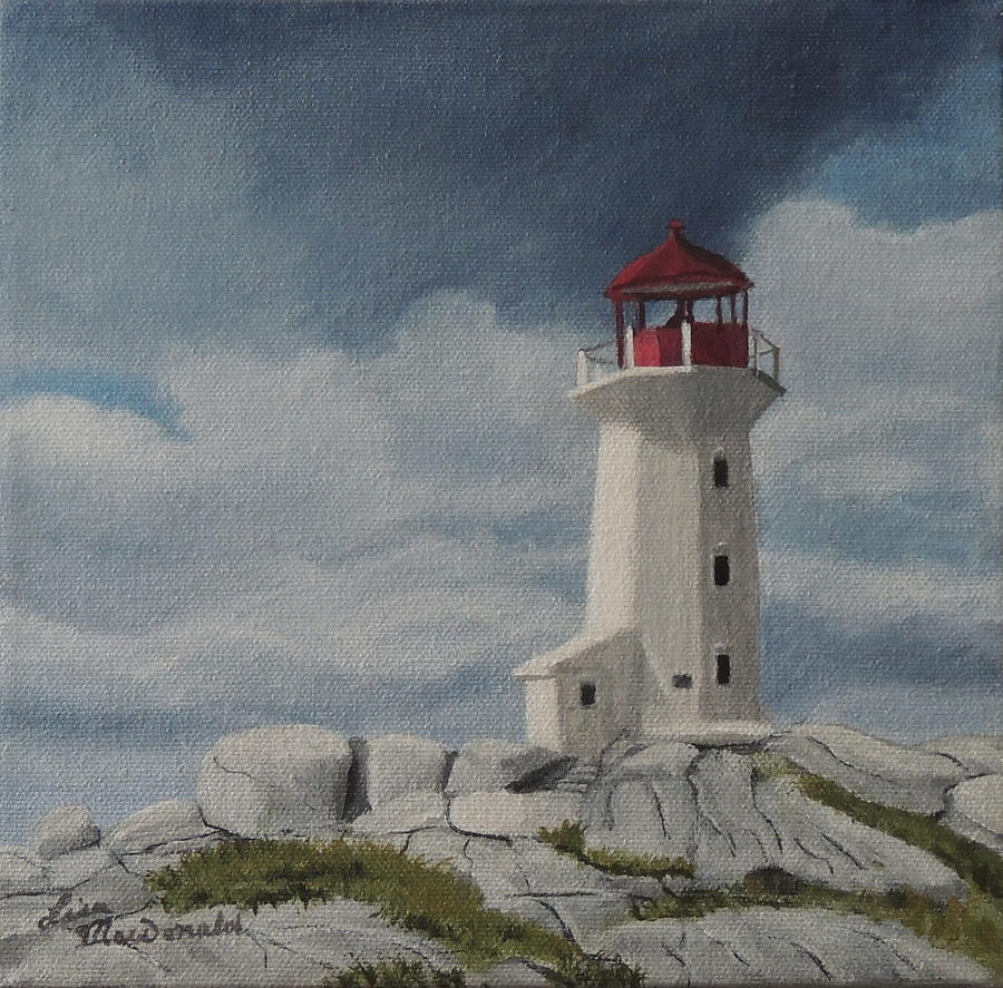 Lighthouse Painting - The Lighthouse by Lisa MacDonald