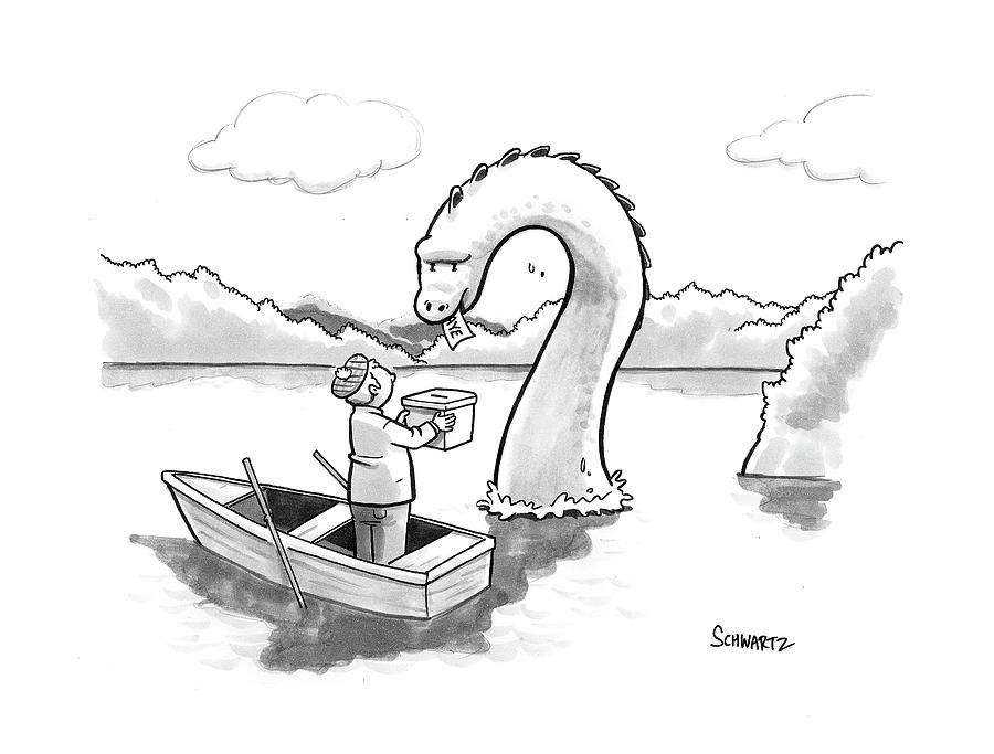 The Loch Ness Monster Votes For Scotland Drawing by ...