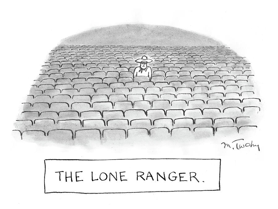The Lone Ranger Drawing by Mike Twohy