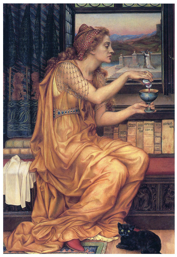 Evelyn De Morgan Painting - The Love Potion by Evelyn De Morgan