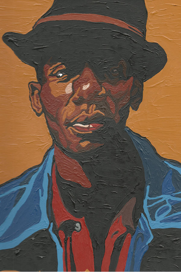 Yasiin Bey Painting - The Most Beautiful Boogie Man by Rachel Natalie Rawlins