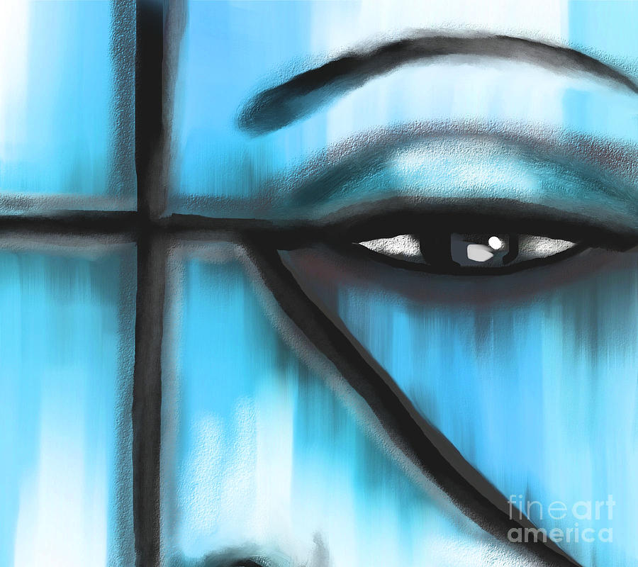 Abstract Painting - The Observer by Hilda Lechuga