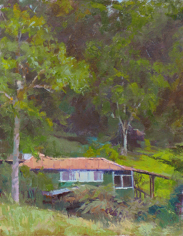 Hawaii Painting - The Old House In The Forest by Robert Weiss