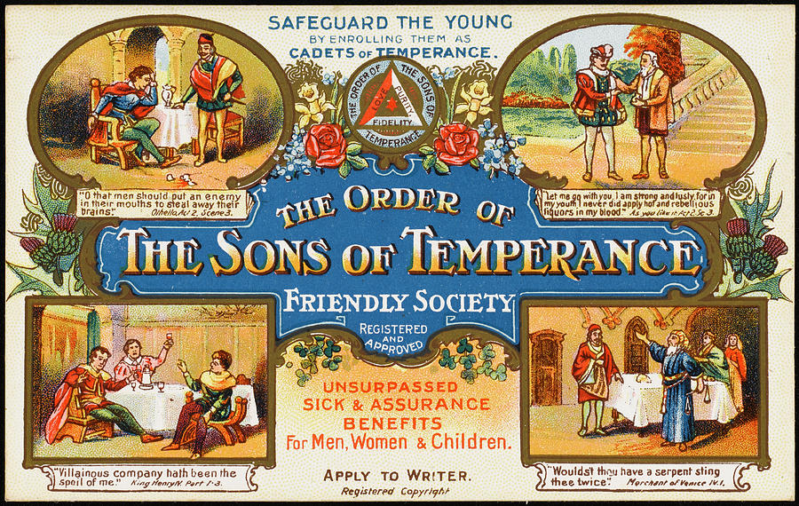 Sons Drawing - The Order Of The Sons Of  Temperance by Mary Evans Picture Library