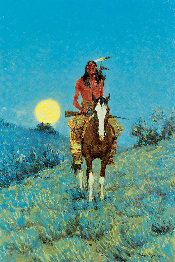 Frederic Remington Painting - The Outlier by Frederic Remington