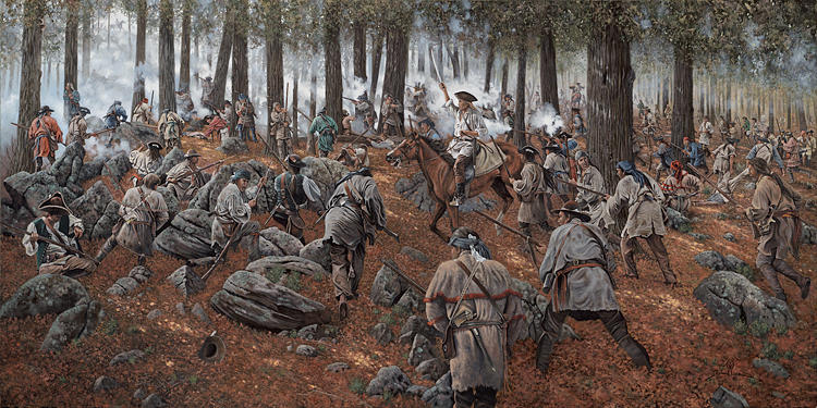 The Patriot Victory At Kings Mountain Painting By Richard Luce