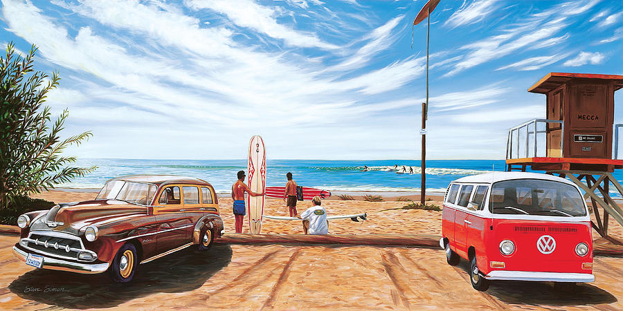 The Point Painting - The Point San Onofre by Steve Simon