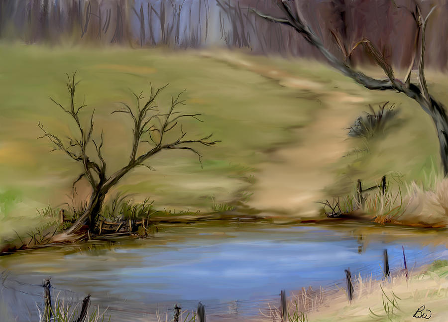 Pond Painting - The Pond  by Bonnie Willis