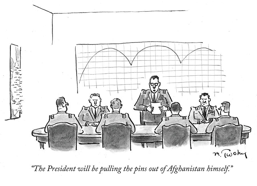 Cartoon Drawing - The President Will Be Pulling The Pins by Mike Twohy