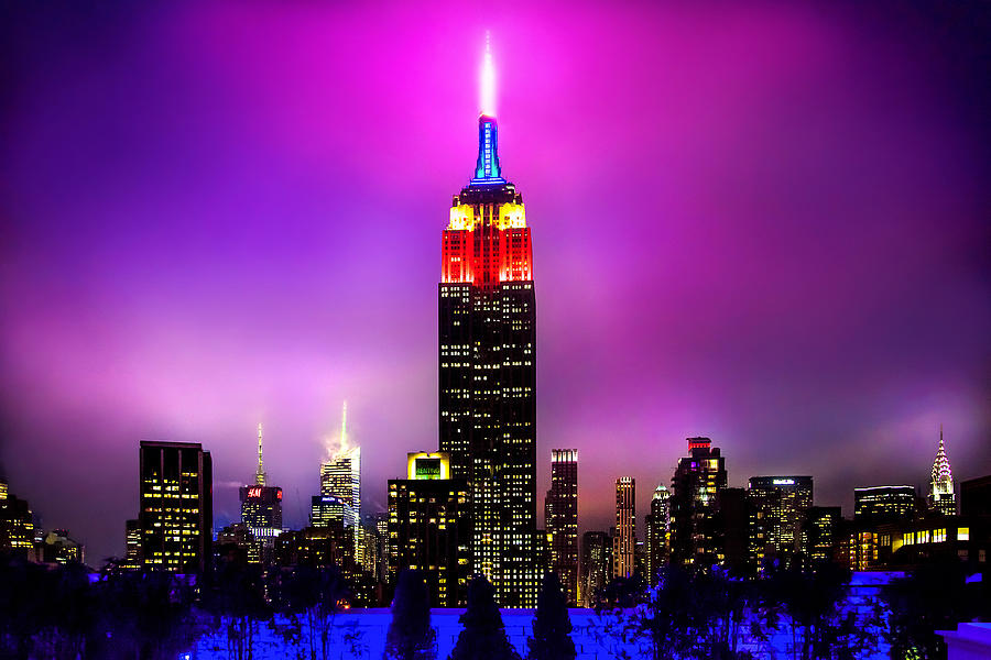 Empire State Building Photograph - The Red Empire by Az Jackson