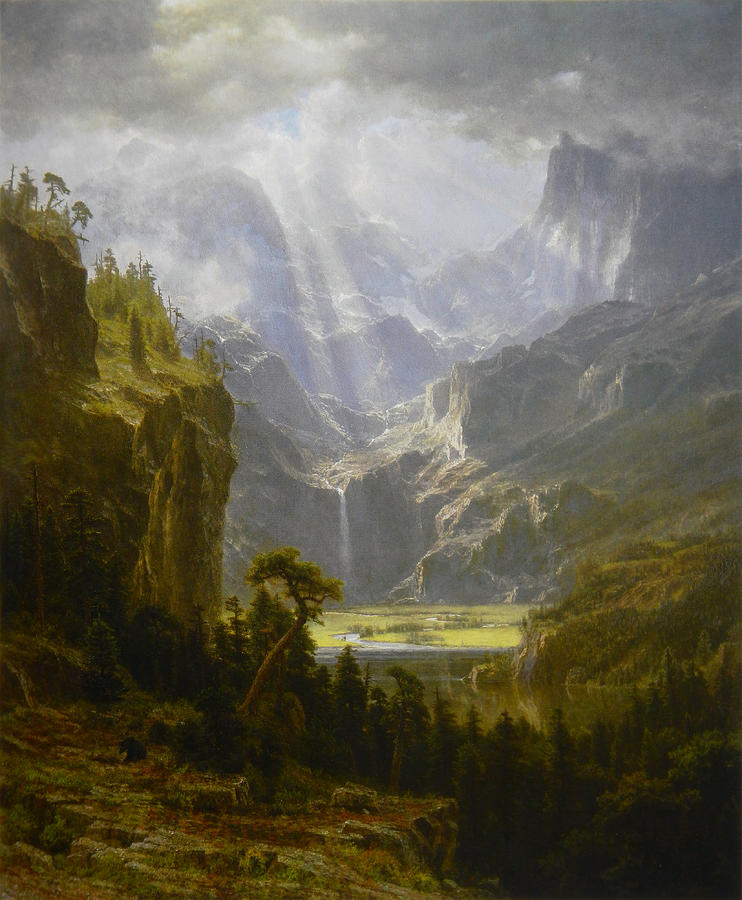 Oil Painting Painting - The Rocky Mountains Landers Peak by Celestial Images